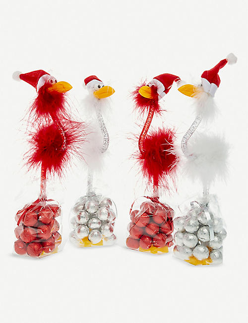 CANDY HOUSE Christmas bird pen & milk chocolates 112g