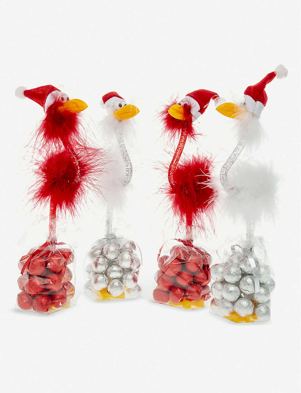 CANDY HOUSE: Christmas bird pen & milk chocolates 112g
