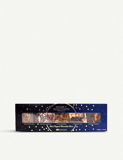 HOUSE OF DORCHESTER Assorted topped chocolate bars 120g
