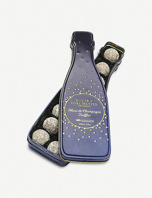 HOUSE OF DORCHESTER Marc De Champagne milk chocolate truffles 145g