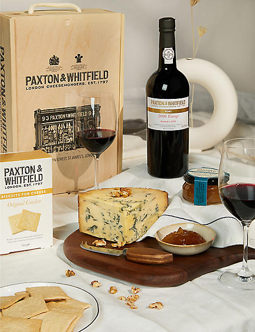 PAXTON & WHITFIELD: Vintage port & stilton gift set