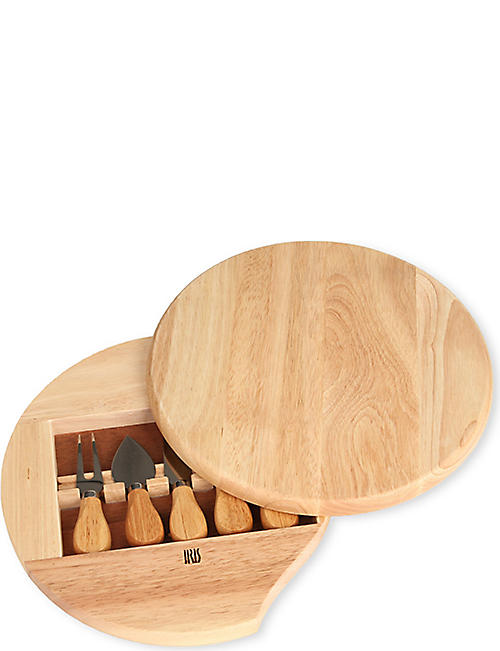 IRIS NATURA Gourmet cheese board with knives