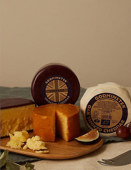 GODMINSTER Prosecco and organic cheddar gift set