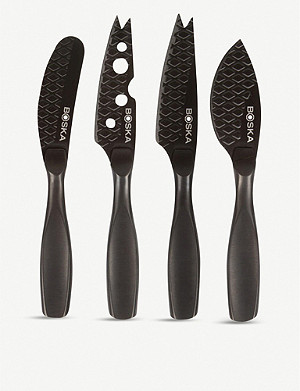 BOSKA Monaco mini cheese knife set of four