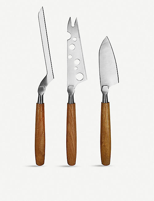BOSKA Oak cheese knife set of three