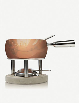 BOSKA: Copper cheese fondue set