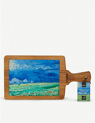 BOSKA: Van Gogh ceramic and wooden serving board