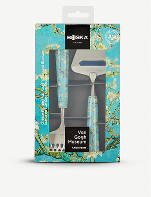 BOSKA Almond Blossom Van Gogh stainless steel cheese cutting set 14cm