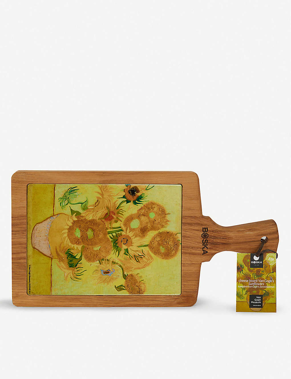 BOSKA: Van Gogh Sunflowers oak and ceramic cheese board