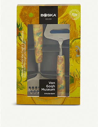 BOSKA: Van Gogh Sunflowers mini cheese set