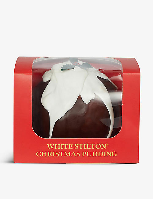 CROPWELL BISHOP CREAMERY LTD: White Stilton Christmas Pudding 1kg