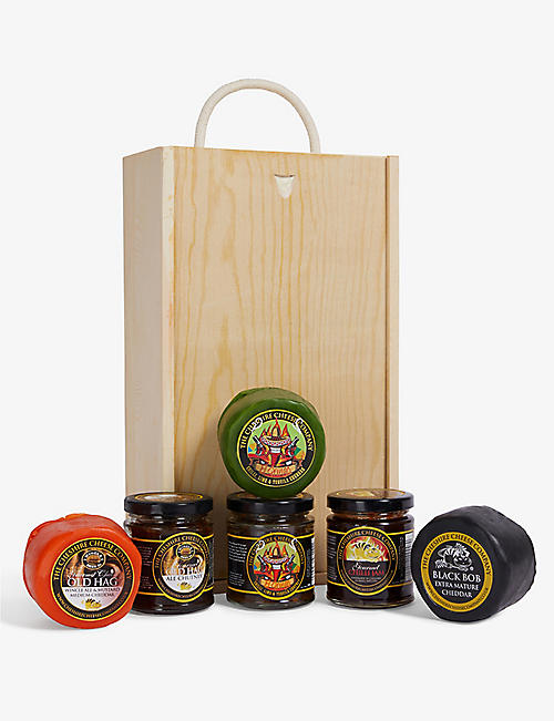 CHESHIRE CHEESE COMPANY Three cheese and chutney gift set