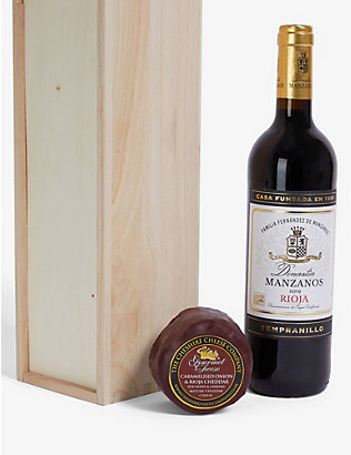 CHESHIRE CHEESE COMPANY: Rioja wine and waxed cheese gift set