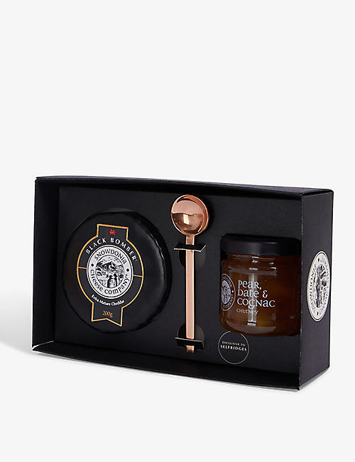 CURD & CURE Black Bomber and chutney gift set