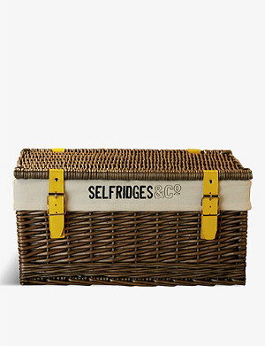 SELFRIDGES SELECTION Wicker hamper basket 48.5cm