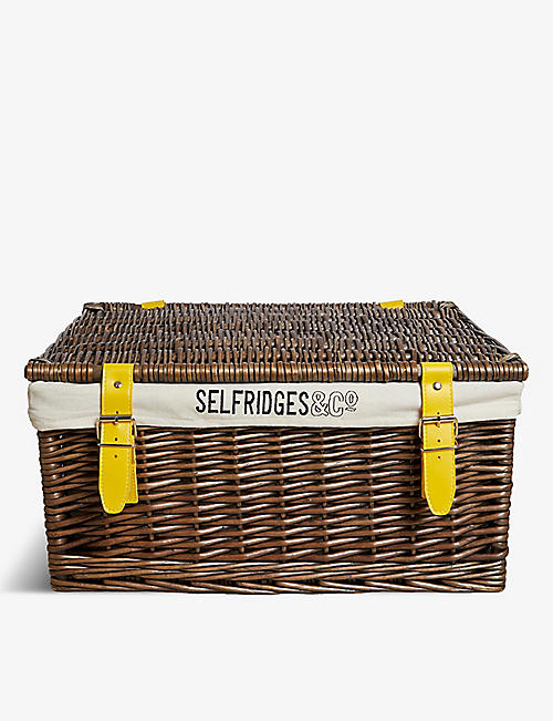 SELFRIDGES SELECTION Wicker hamper basket 60cm