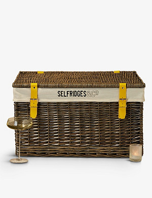 SELFRIDGES SELECTION Wicker hamper basket 65.8cm
