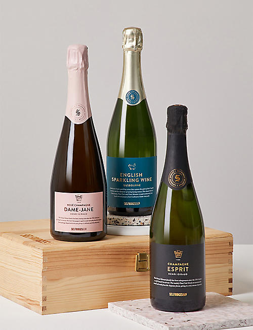 SELFRIDGES SELECTION Sparkling Trio Celebration Hamper