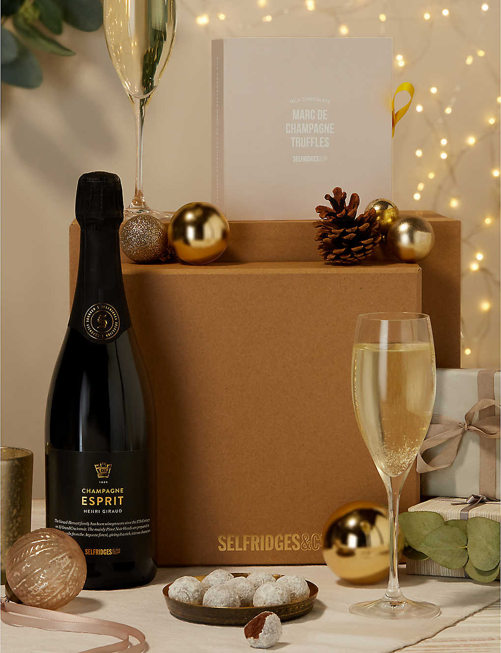 SELFRIDGES SELECTION: Champagne and Chocolates Gift Box