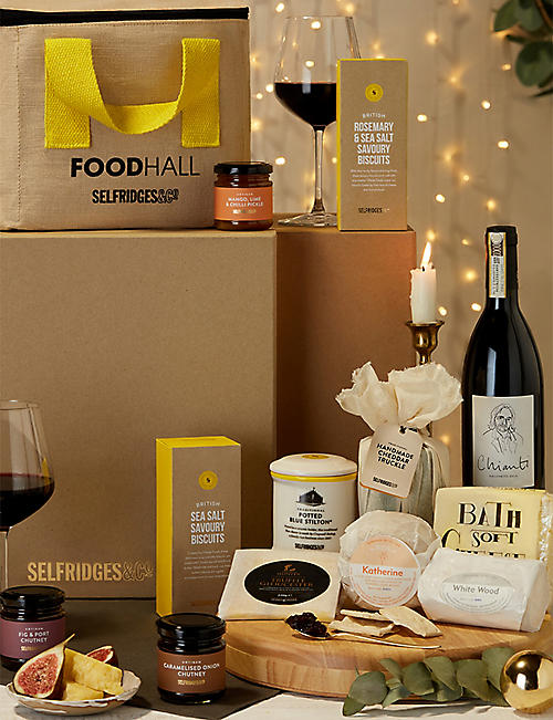 SELFRIDGES SELECTION Cheese and Wine Gift Box