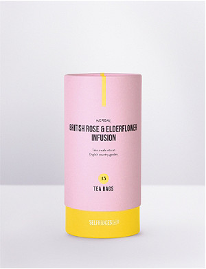 SELFRIDGES SELECTION Herbal British rose and elderflower infusion 30g
