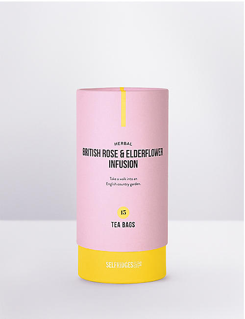 SELFRIDGES SELECTION: Herbal British rose and elderflower infusion 30g