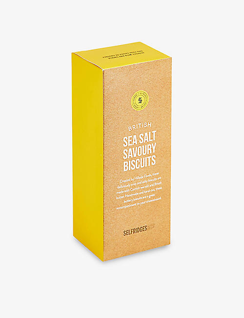 SELFRIDGES SELECTION British Sea Salt Savoury biscuits 110g