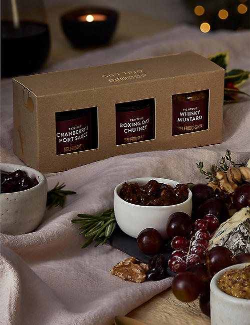SELFRIDGES SELECTION Mini condiments trio 330g
