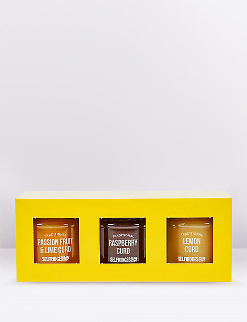 SELFRIDGES SELECTION Mini fruit curd trio 330g