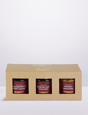 SELFRIDGES SELECTION Festive Condiment Gift Trio 700g