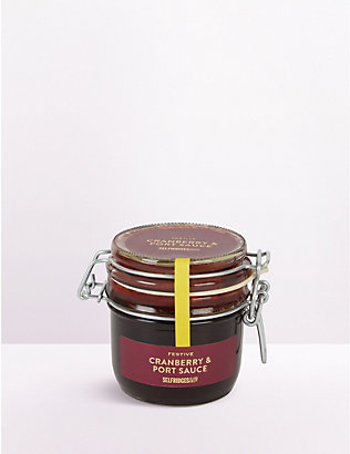 SELFRIDGES SELECTION: Festive Cranberry and Port Sauce 250g