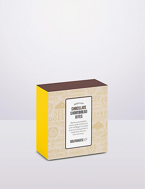 SELFRIDGES SELECTION Chocolate shortbread mini bites 100g