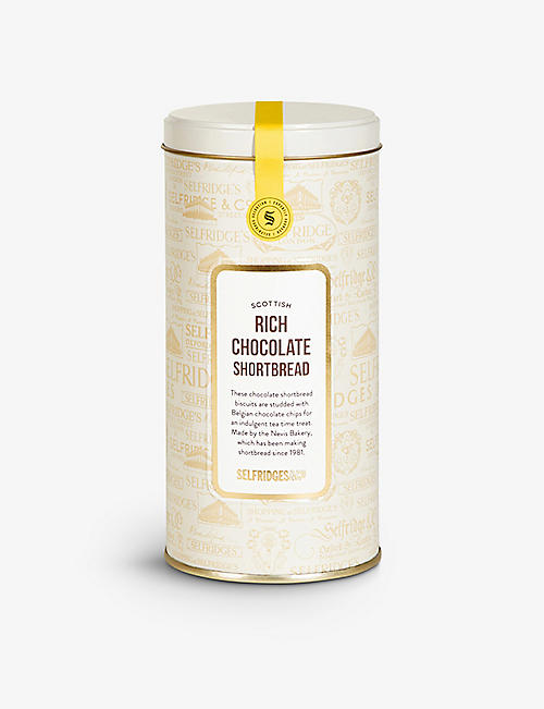 SELFRIDGES SELECTION: All-butter chocolate shortbread tin 250g