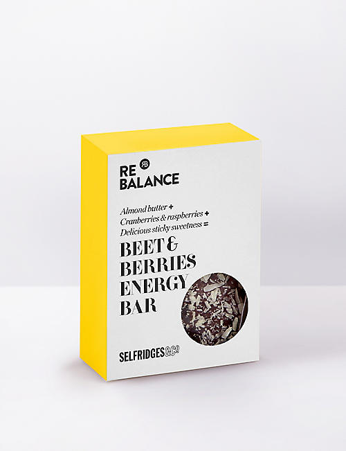 SELFRIDGES SELECTION ReBalance Beet & berries raw energy bar 70g
