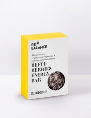 SELFRIDGES SELECTION Beet & berries raw energy bar 70g