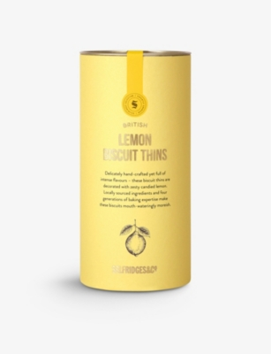 SELFRIDGES SELECTION Lemon biscuit thins 95g