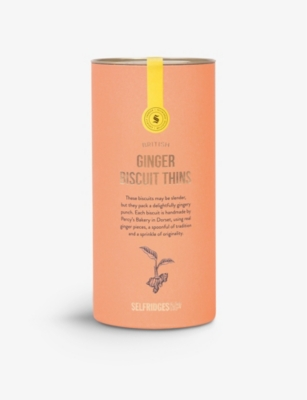 SELFRIDGES SELECTION Ginger biscuit thins 115g