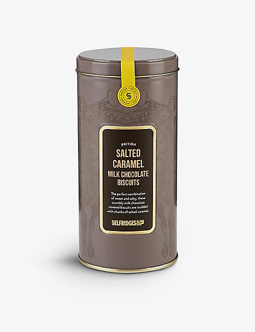 SELFRIDGES SELECTION: British Salted Caramel Milk Chocolate Biscuits 180g