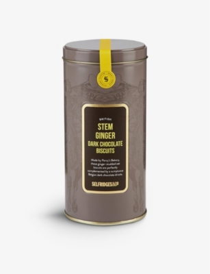 SELFRIDGES SELECTION British Stem Ginger Dark Chocolate Biscuits 120g