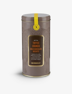 SELFRIDGES SELECTION British Toffee Crunch Gold Chocolate Biscuits 180g