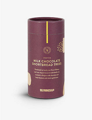 SELFRIDGES SELECTION: Festive Milk Chocolate Shortbread Trees 125g