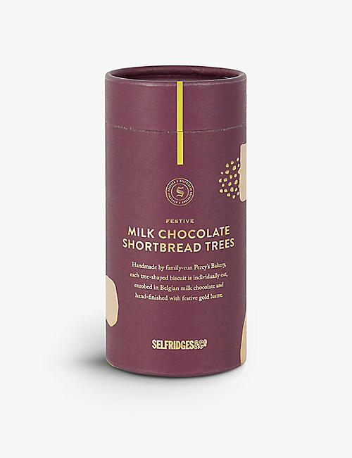 SELFRIDGES SELECTION Festive Milk Chocolate Shortbread Trees 125g