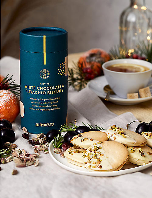 SELFRIDGES SELECTION Festive White Chocolate and Pistachio Biscuits 170g