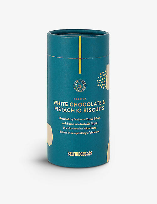 SELFRIDGES SELECTION: Festive White Chocolate and Pistachio Biscuits 170g