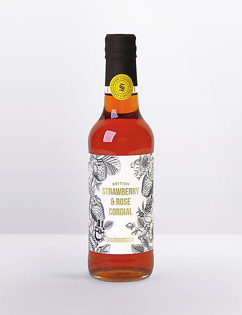 SELFRIDGES SELECTION Strawberry & Rose cordial 330ml