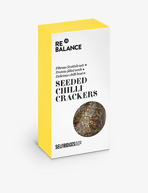 SELFRIDGES SELECTION ReBalance seeded chilli crackers 80g