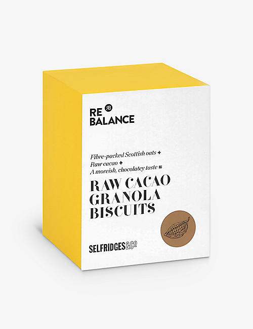 SELFRIDGES SELECTION: ReBalance raw cacao granola biscuits 200g