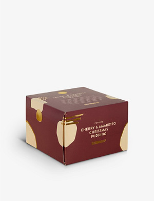 SELFRIDGES SELECTION Festive Cherry and Amaretto Christmas Pudding 450g