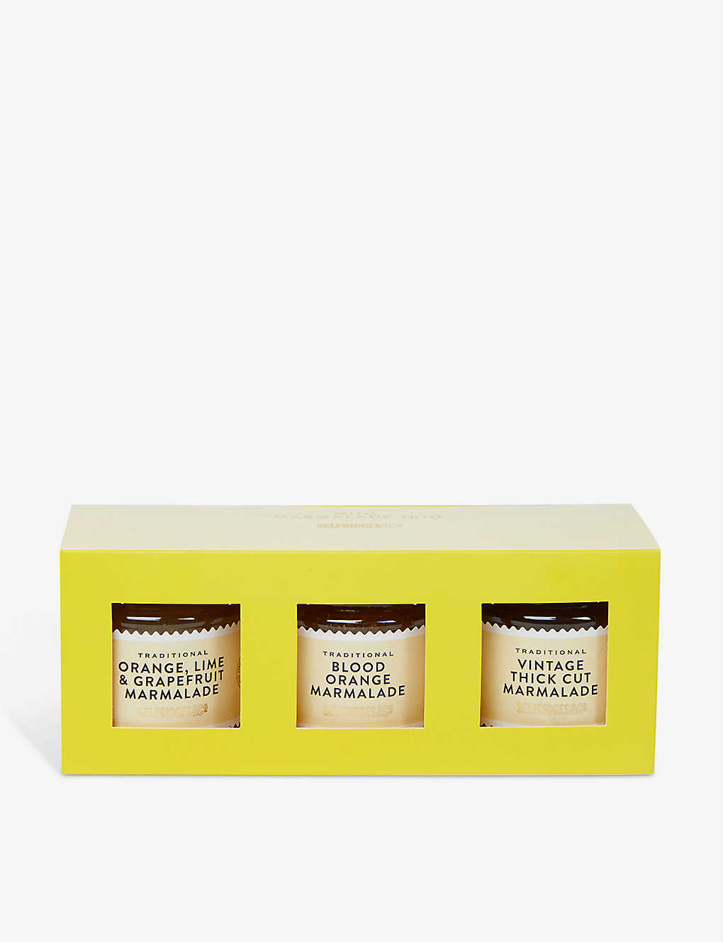 SELFRIDGES SELECTION: Traditional Marmalade Trio box of three