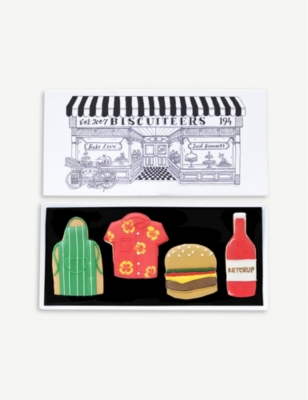 BISCUITEERS BBQ letterbox biscuits box of four